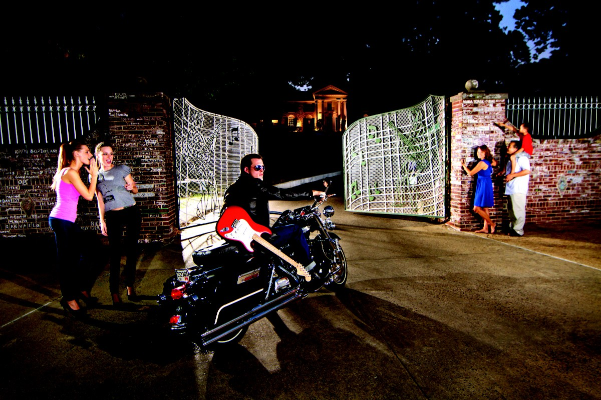 Fans at the gates of Graceland