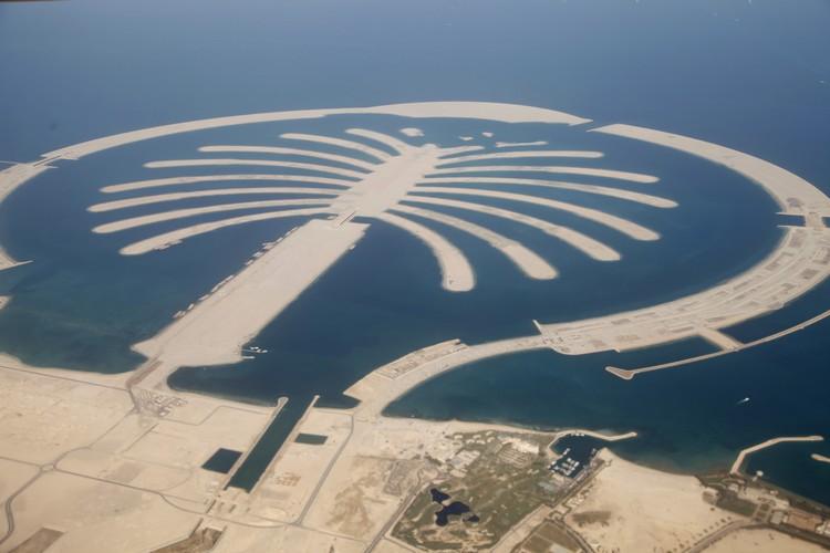 The Palm dallo spazio - Dubai