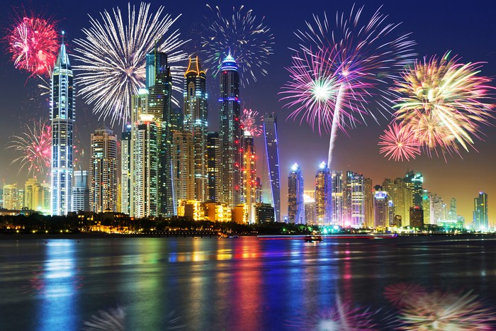 fuochi d'artificio - Capodanno a Dubai