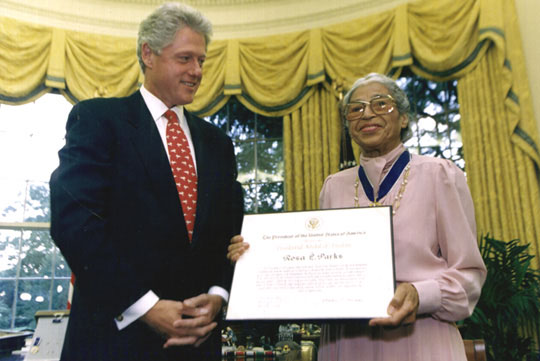 RosaParks-BillClinton1